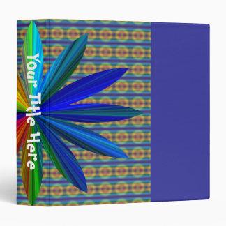 Rainbow Flower Tie Dye Binder