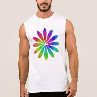 Rainbow flower sleeveless shirt