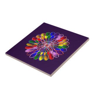 Rainbow Floweret Ceramic Tile