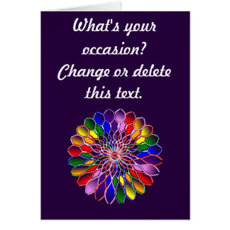 Rainbow Floweret Custom Greeting Card