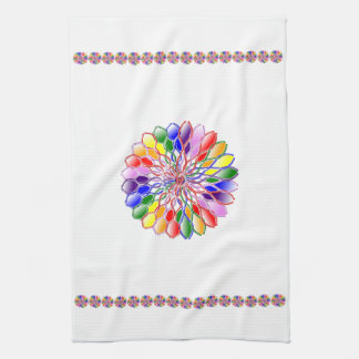 Rainbow Floweret Kitchen Towel