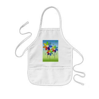 rainbow flowers kids' apron