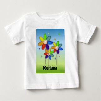 rainbow flowers baby T-Shirt