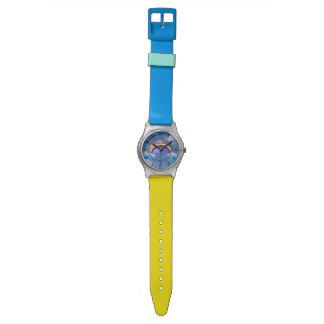 Rainbow  Flowers Chic Girl Peace Love Destiny Wristwatch