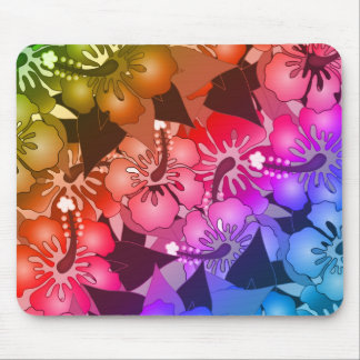 Rainbow Flowers Mouse Pad