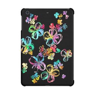 Rainbow Flowers on Black iPad Mini Cover