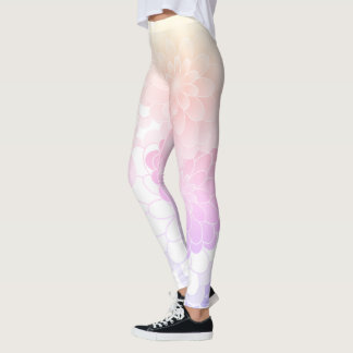 Rainbow flowers, original leggings