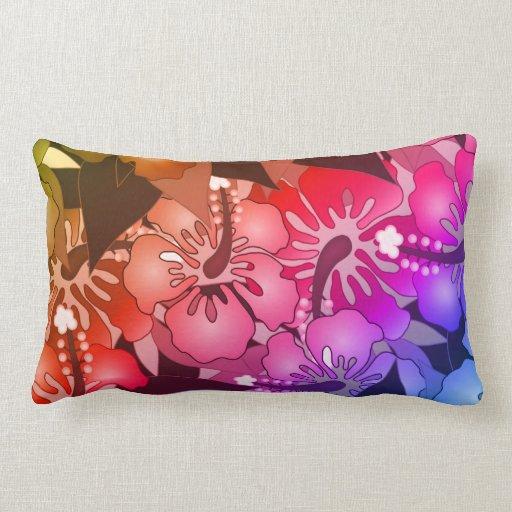 Rainbow Flowers Pillow