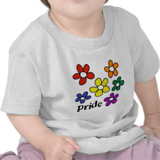 Rainbow Flowers Pride T-shirts