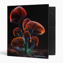 fluorescence, mushrooms, psychedelic, rainbow, blue, digital, blasphemy, ryan, bliss, desktop wallpaper, Fichário com design gráfico personalizado
