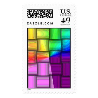 Rainbow Foil Postage Stamps