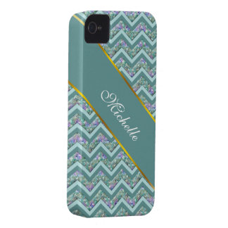 Rainbow Foil ZigZag Pattern Case-Mate iPhone 4 Case