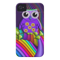 Rainbow Forest Owl iPhone 4 universal case