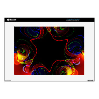 Rainbow fractal #2 decals for laptops