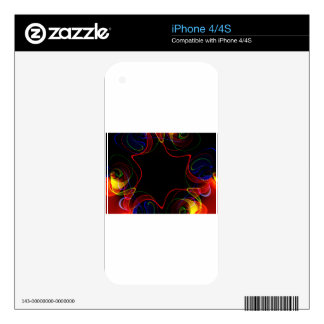 Rainbow fractal #2 iPhone 4S decals