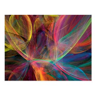 Rainbow Fractal Art Postcard