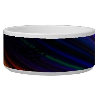 Rainbow Fractal Art Splatter Design Bowl