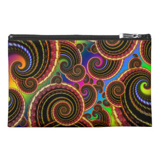 Rainbow Fractal Art Swirl Pattern Travel Accessories Bags