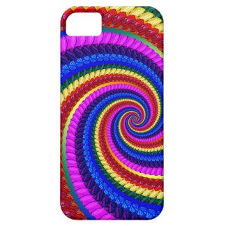 Rainbow Fractal Art Swirl Pattern Case For iPhone 5/5S
