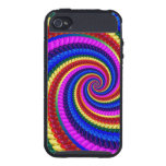 Rainbow Fractal Art Swirl Pattern iPhone 4/4S Covers