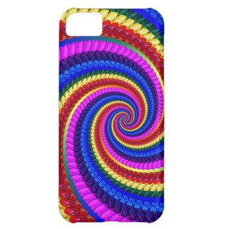 Rainbow Fractal Art Swirl Pattern Case For iPhone 5C