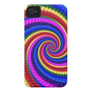 Rainbow Fractal Art Swirl Pattern iPhone 4 Covers