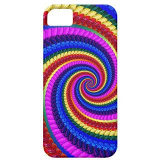 Rainbow Fractal Art Swirl Pattern iPhone 5 Covers