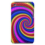Rainbow Fractal Art Swirl Pattern iPod Case-Mate Case