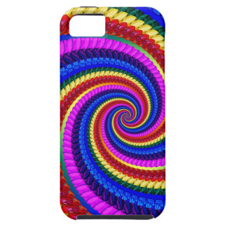 Rainbow Fractal Art Swirl Pattern iPhone 5 Cover