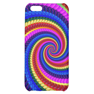 Rainbow Fractal Art Swirl Pattern Cover For iPhone 5C