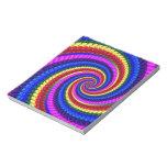Rainbow Fractal Art Swirl Pattern Note Pad