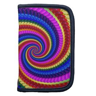 Rainbow Fractal Art Swirl Pattern Planner