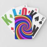 Rainbow Fractal Art Swirl Pattern Poker Cards