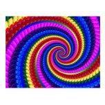 Rainbow Fractal Art Swirl Pattern Postcard