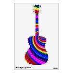 Rainbow Fractal Art Swirl Pattern Room Stickers