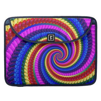Rainbow Fractal Art Swirl Pattern Sleeve For MacBook Pro