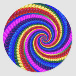 Rainbow Fractal Art Swirl Pattern Sticker