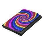 Rainbow Fractal Art Swirl Pattern Wallet