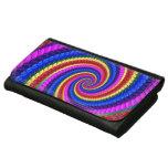 Rainbow Fractal Art Swirl Pattern Wallet For Women