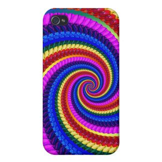 Rainbow Fractal Art Swirl Pern iPhone 4 Cover