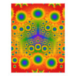 Rainbow Fractal Explosions: Full Color Flyer