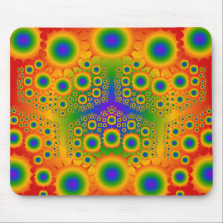 Rainbow Fractal Explosions: Mouse Pad
