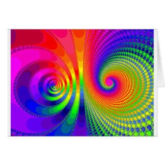Rainbow Fractal Graphic Image Design Card