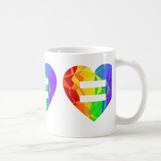 Rainbow Fractal Heart Art Pattern Mug