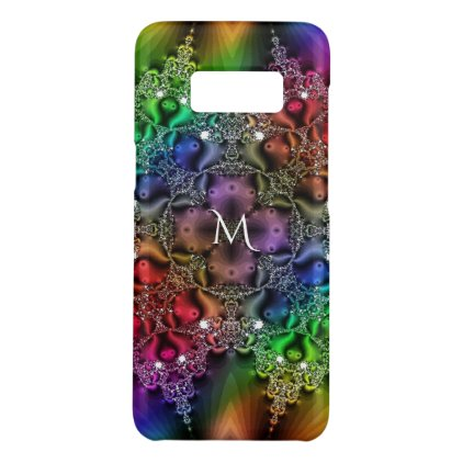Rainbow Fractal Jewels Tapestry Monogram Case-Mate Samsung Galaxy S8 Case