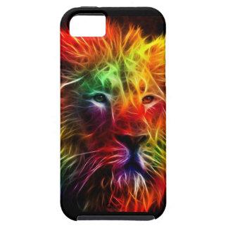Rainbow Fractal Lion iPhone 5 Case
