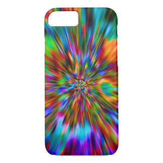 RAINBOW FRACTAL OPTICAL ART. iPhone 7 CASE