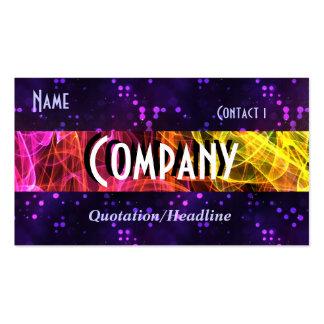 Rainbow Fractal Smoke and Purple Glitter Business Card