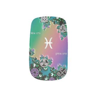 Rainbow Fractal Zodiac Sign Pisces Minx® Nail Wraps