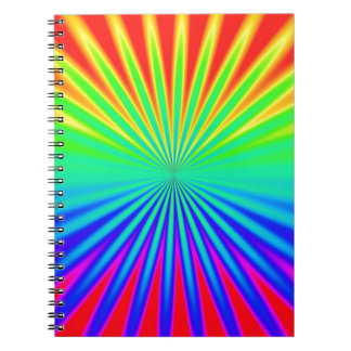 RAINBOW FRACTALS BEAMS BACKGROUNDS WALLPAPERS TEMP NOTE BOOK
